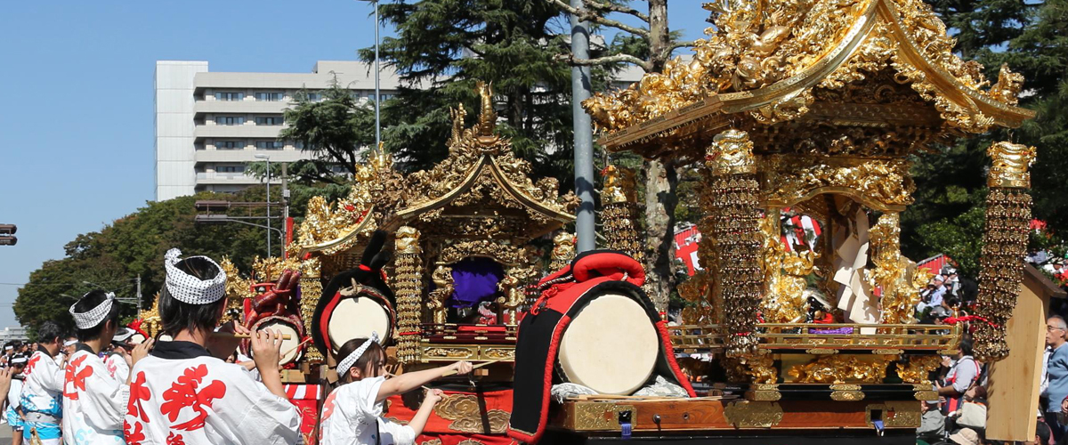 Autumn Festivals and Gorgeous Festival Floats