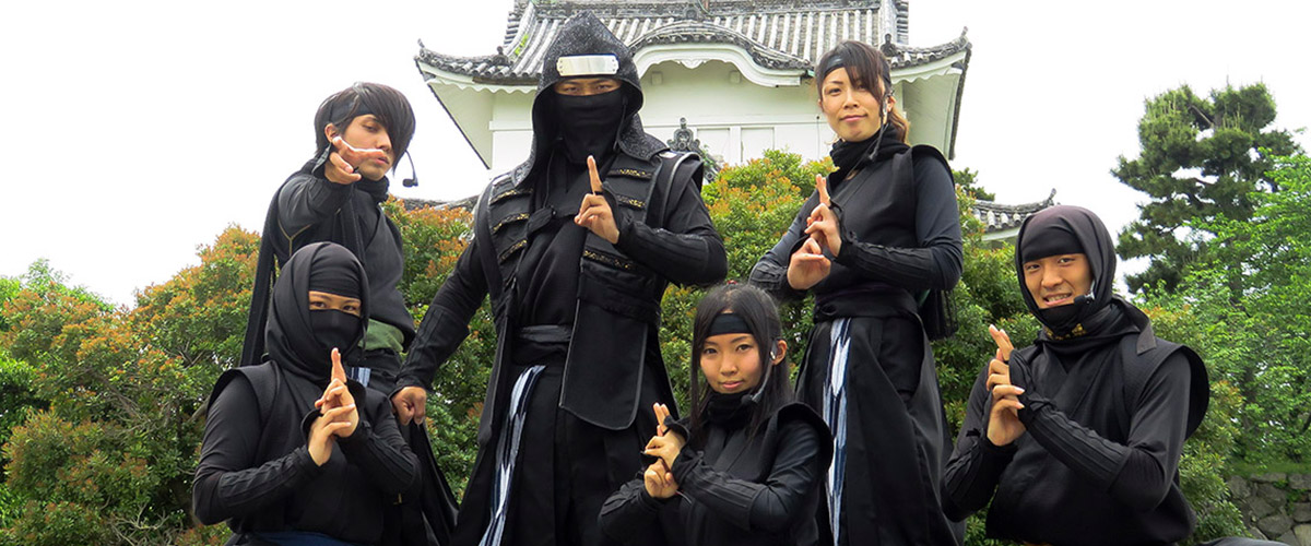 "Tokugawa Ieyasu's Hattori Hanzo and The Ninjas team - New 2018 Member Introduction at Nagoya Castle - Lady Ninja ""Kocho"" first public appearance!"