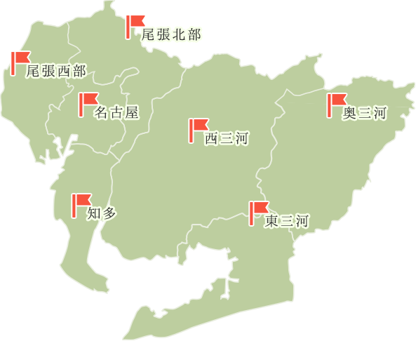 愛知県エリアマップ